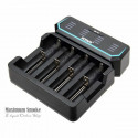 XTAR D4 4-slot Quick Charger LCD Screen