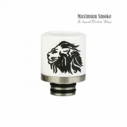 Ceramic 510 Drip Tip Lion