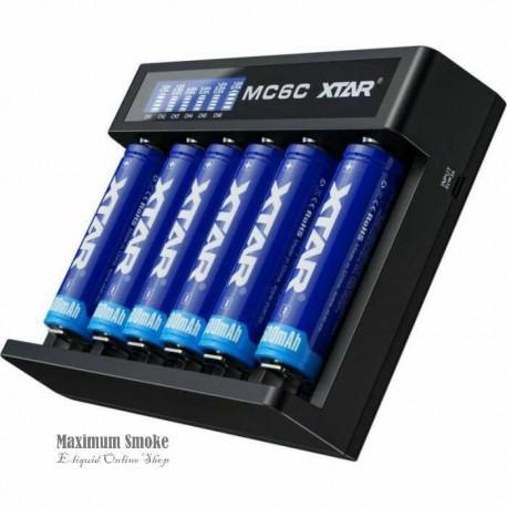 XTAR MC6C 6-slot Charger LCD Screen